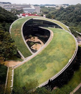 The Nanyang Technological University's School of Art, Design, and Media in Singapore is home to a series of green roofs, des...