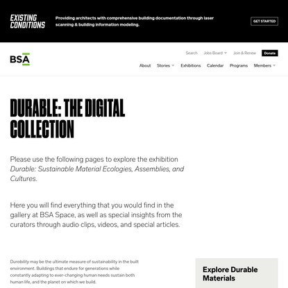Durable: The Digital Collection