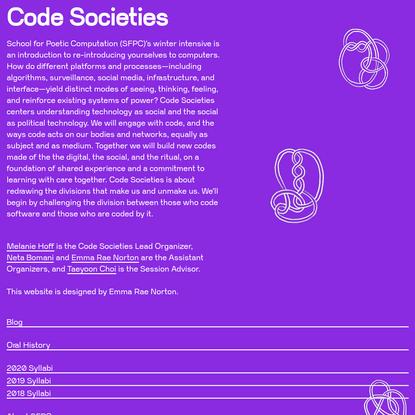 Code Societies