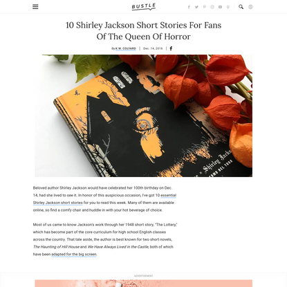 10 Essential Shirley Jackson Short Stories
