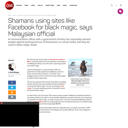 Shamans using sites like Facebook for black magic, says Malaysian official