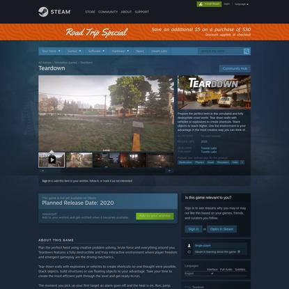 Teardown on Steam