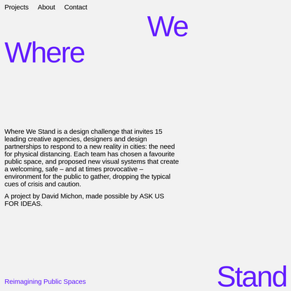 WHERE WE STAND -