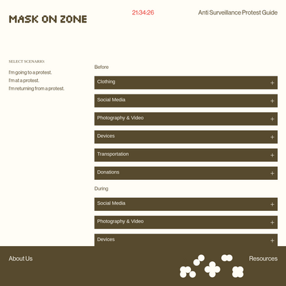 mask on - anti surveillance protest guide