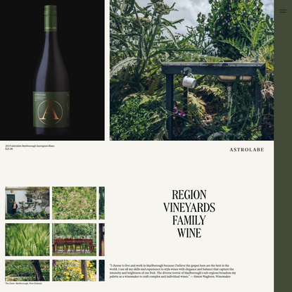 Astrolabe Wines | Marlborough, New Zealand
