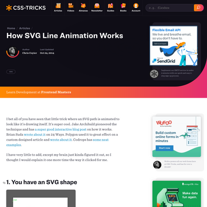 How SVG Line Animation Works   CSS-Tricks