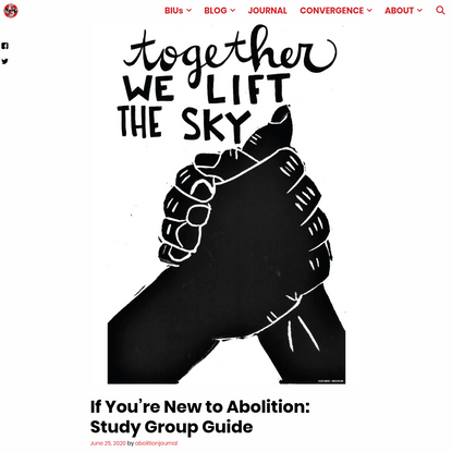 If You're New to Abolition: Study Group Guide