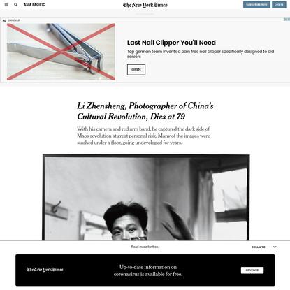 Li Zhensheng, Photographer of China's Cultural Revolution, Dies at 79 - The New York Times