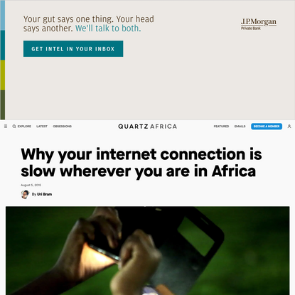 Why your internet connection is slow wherever you are in Africa