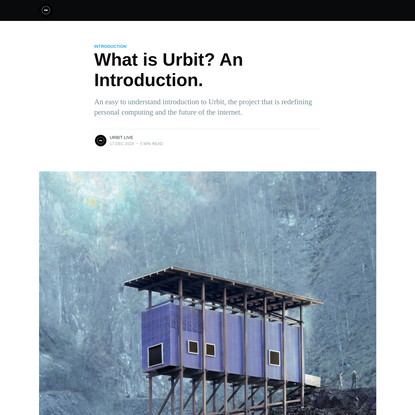What is Urbit? An Introduction.