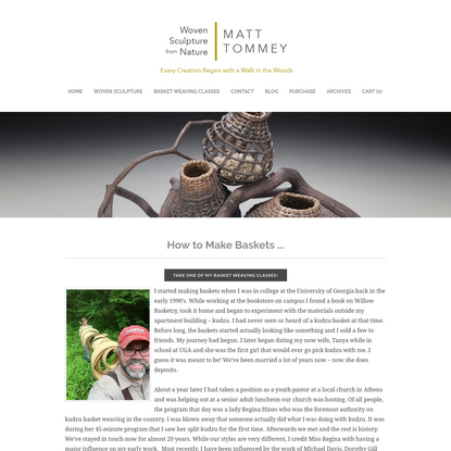 How To Make Baskets From Natural Materials | Matt Tommey