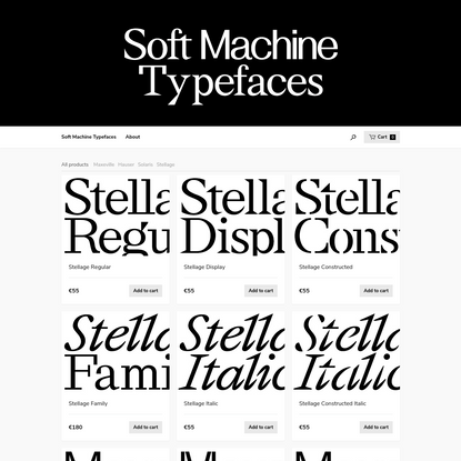 Soft Machine Typefaces