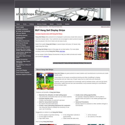 Hang-Sell Merchandiser Strips