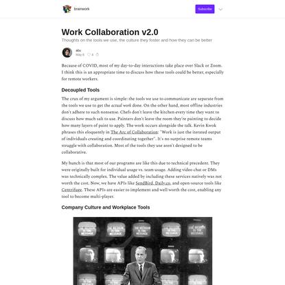 Work Collaboration v2.0