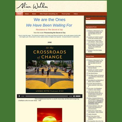 Alice Walker | The Official Website for the American Novelist & Poet