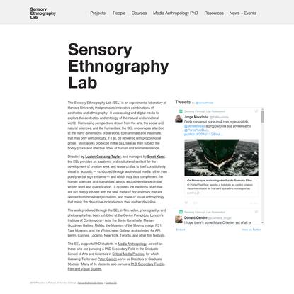 Sensory Ethnography Lab :: Harvard University