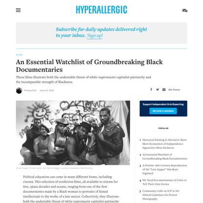 An Essential Watchlist of Groundbreaking Black Documentaries