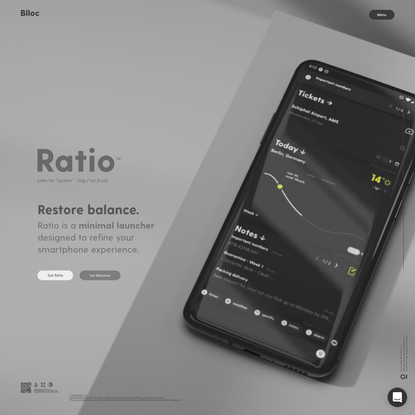Blloc - Refine your smartphone experience.