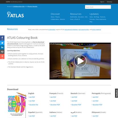 ATLAS Colouring Book | ATLAS Experiment at CERN