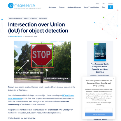Intersection over Union (IoU) for object detection - PyImageSearch