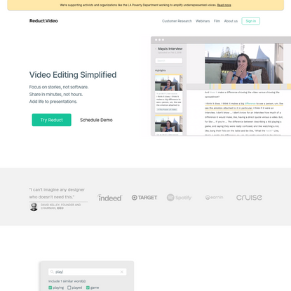 Reduct - Video Editing Simplified