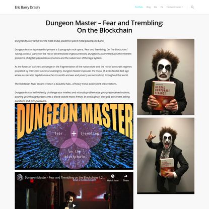 Dungeon Master - Fear and Trembling: On the Blockchain