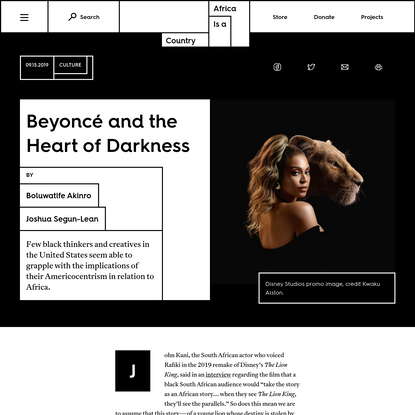 Beyoncé and the Heart of Darkness