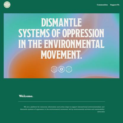 Intersectional Environmentalist