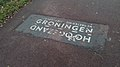 Hoogezand-Groningen sign on the bicycle path, Foxhol (2019) 02.jpg
