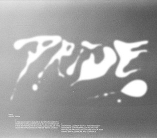 """↺ Daily repost """" we recommend this work: PRIDE - Work on a personal projet on this quarantine time. Typography & photography..."""