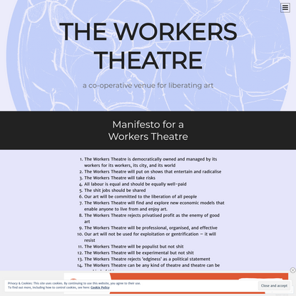 Manifesto for a Workers Theatre