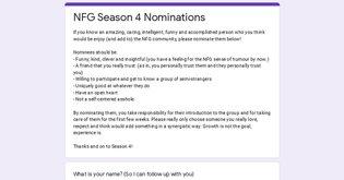 NFG Season 4 Nominations