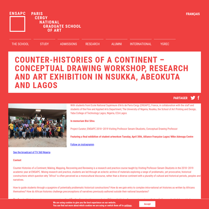 Counter-histories of a continent - Conceptual Drawing Workshop, Research and Art Exhibition in Nsukka, Abeokuta and Lagos | ...