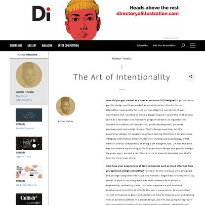 The Art of Intentionality   Communication Arts