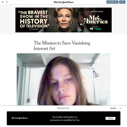The Mission to Save Vanishing Internet Art