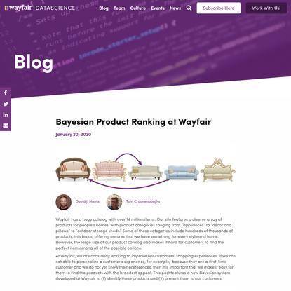 Bayesian Product Ranking at Wayfair | Wayfair
