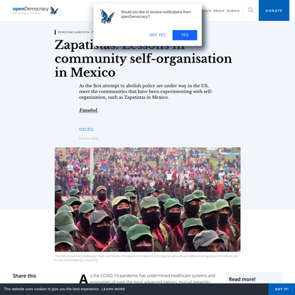 Zapatistas: Lessons in community self-organisation in Mexico