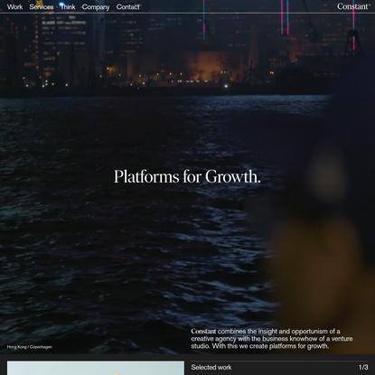 Creative brand consultancy and venture studio - Constant