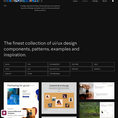 The Finest Collection of UI/UX Patterns & Examples