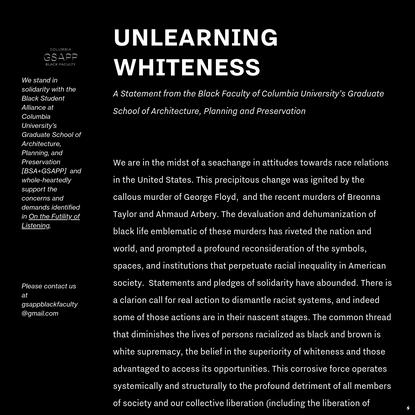 Unlearning Whiteness