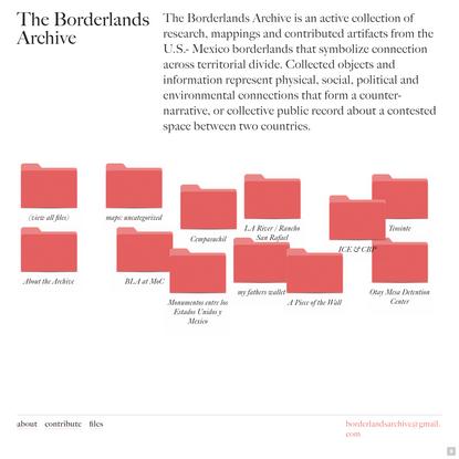 Borderlands Archive