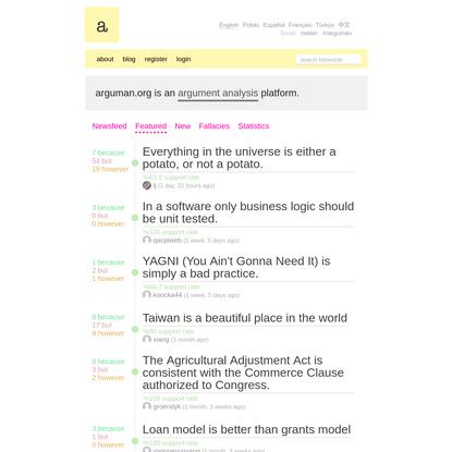Argument Analysis Platform. Create and analyze argument maps online.