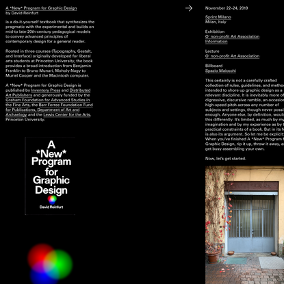 A *New* Program for Graphic Design
