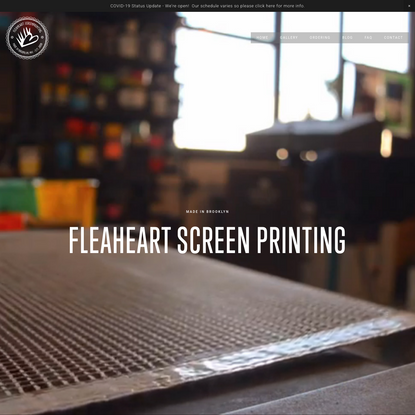 FLEAHEART Screen Printing in Brooklyn, NY