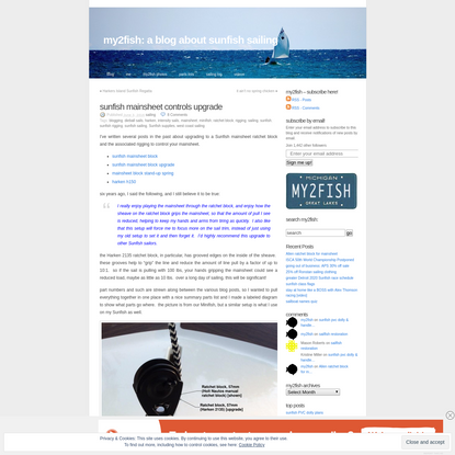 sunfish mainsheet controls upgrade