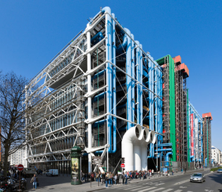 Centre Pompidou,  Renzo Piano, Richard Rogers and Gianfranco Franchini 1971–1977
