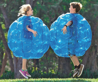 Wearable Inflatable Bumped Balls