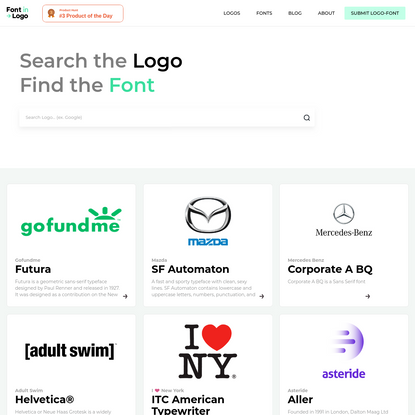 List of Logos - Font In Logo