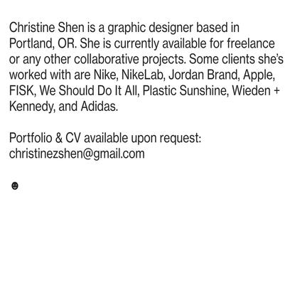 Christine Shen Portfolio