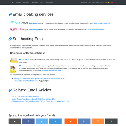 Private Email Providers | PrivacyTools